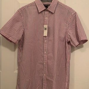 New Coral and blue stripped Michael Kors shirt S